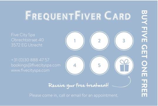 Frequent fiver card
